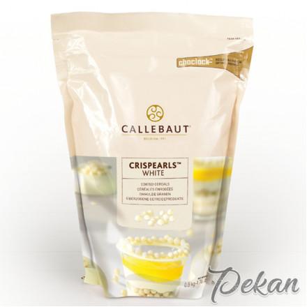 Драже белый шоколад Callebaut Crispearls, 800 г (CEW-CC-W1CRIE0-W97)