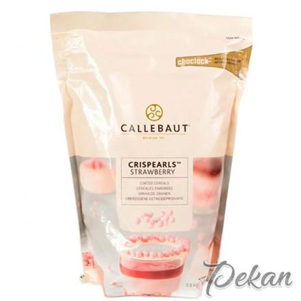 Драже клубничный шоколад Callebaut Crispearls, 800 г (CEF-CC-STRA-E0-W97)