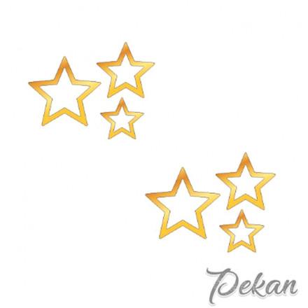 Набор зеркальных топперов Звезды №011