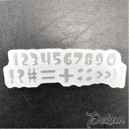 Молд силиконовый Цифры и символы №449