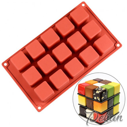 Силиконовая форма Куб 35 мм, 15 ячеек
