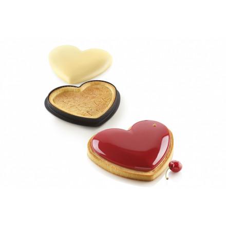 Набор перфорированная и силиконовая форма Сердце (Kit Tarte Ring Amore 205) Silikomart