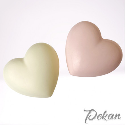 Молд силиконовый Сердце объемное №296, 5 см
