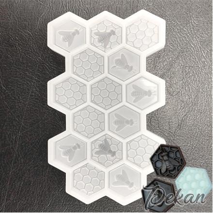 Молд силиконовый Соты с пчелами №712
