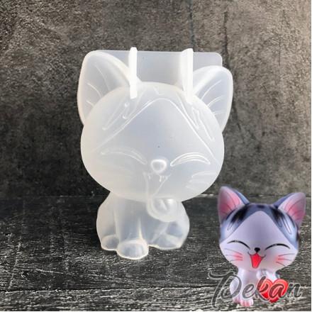 Молд силиконовый 3D Котенок