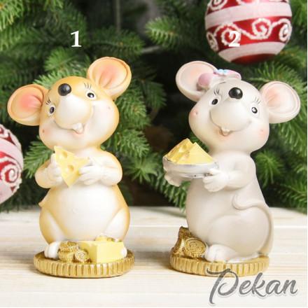 Молд силиконовый 3D Мышка с сыром 1