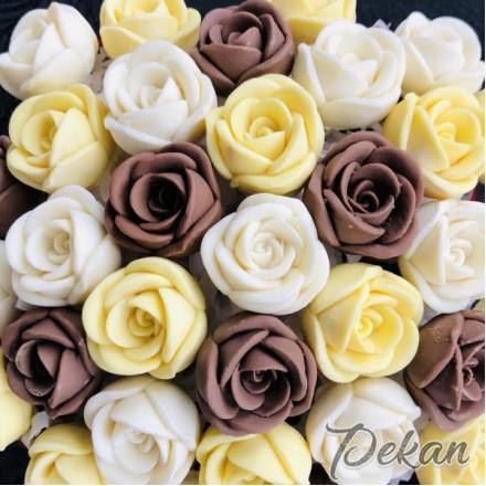 Молд силиконовый 3D Роза №60, 6 ячеек