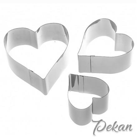 Набор металлических форм Сердце 3 шт, 6-10 см
