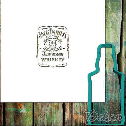 Вырубка для пряников и трафарет Виски Jack Daniels