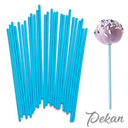 Палочки для кейк-попсов Синие, 15 см, 50 шт