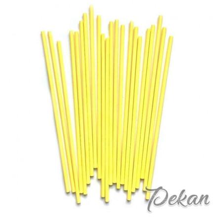 Палочки для кейк-попсов Желтые, 15 см, 50 шт