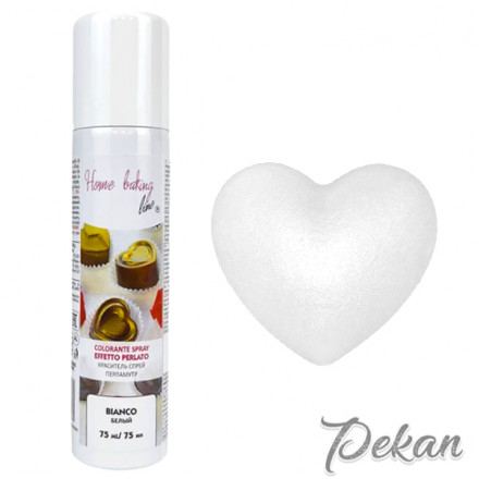 Краситель-спрей для шоколада и мастики Белый Pearled, 75 мл