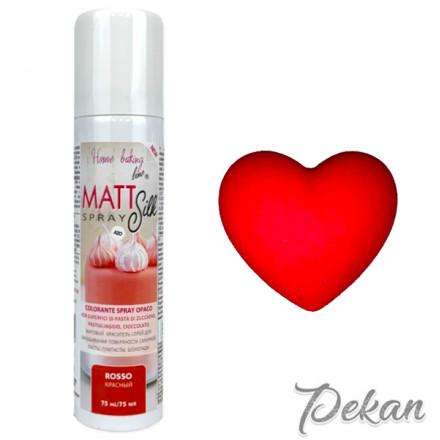 Краситель-спрей для шоколада и мастики Красный Matt Silk, 75 мл