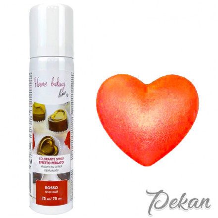 Краситель-спрей для шоколада и мастики Красный Pearled, 75 мл