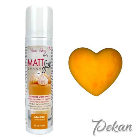 Краситель-спрей для шоколада и мастики Оранжевый Matt Silk, 75 мл