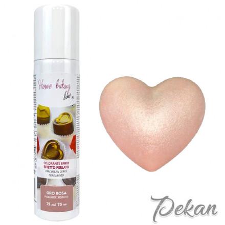 Краситель-спрей для шоколада и мастики Розовое золото Pearled, 75 мл