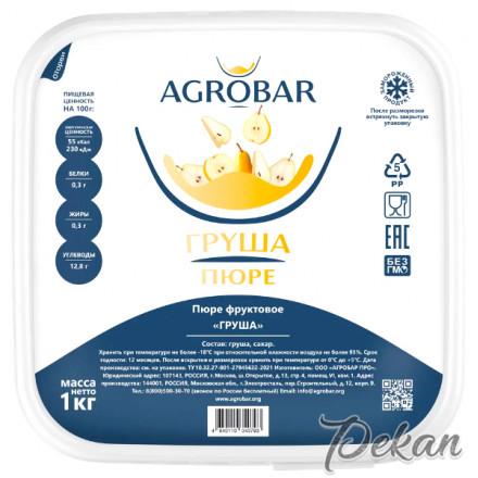Пюре замороженное Груша Agrobar, 1 кг