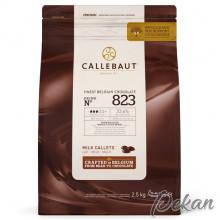Шоколад молочный 33,6% Callebaut, 2,5 кг (823-RT-U71)