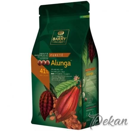 Шоколад молочный 41% Alunga Cacao Barry, 1 кг