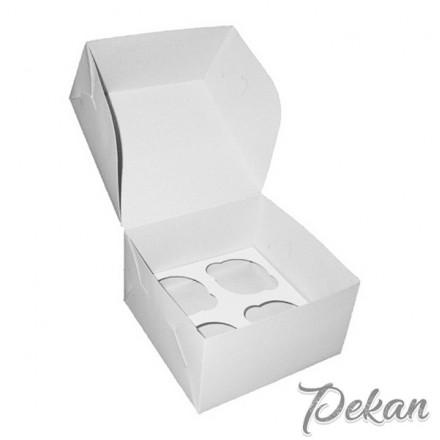 Коробка под 4 капкейка Белая