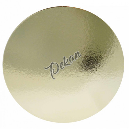 Подложка под торт Круг 280х1,5 мм золотая/белая